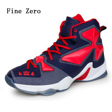 Fine Zero Male high top outdoor shoes Spring Autumn women air Sneakers Black White Basketball Boots Indoor trainers basket femme(China)