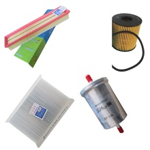 air filter +cabin air condition filter + fuel + Oil filter for used for peugeot 307 . citroen Triomphe / Quatre 1.6(China)