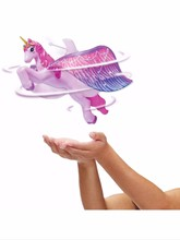 For 2016 Children's Day Flying Unicorn Figure Magically Flying Dolls Flying Fairy Toys Control Flying Fairy Baby Toy