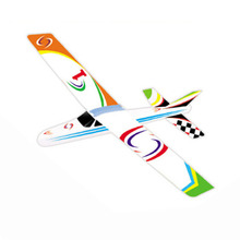 2017 Hot rubber band powered model airplane aircraft DIY stereoscopic science toy airplane model aircraft for child