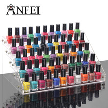 ANFEI Fashion Storage Case Makeup Nail Polish Jewelry Organizer Rack Acrylic Display Case Stand Holder Beauty Tools 5 Layers(China)