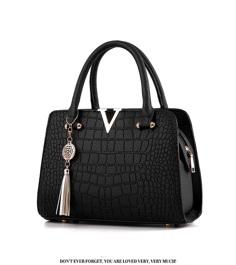 Crocodile Leather Luxury Quality Lady Shoulder Bags 14