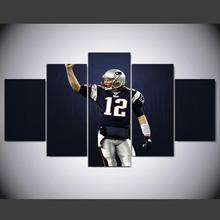 DAFENJINGMO ARTS wall art Canvas Printings living room decor Pictures Posters Modern Home Bedroom football baseball Tom Brady(China)