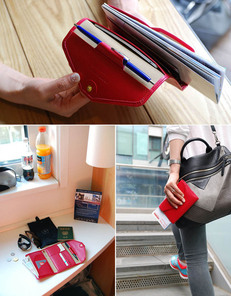 Travel Passport Cover Foldable Credit Card Holder Money Wallet ID Multifunction Documents Flight Bit License Purse Bag PC0045 (9)