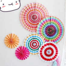 Party supplies  Chinese Paper Fans Decorations Hanging Flower Fans Folding Fans Party Home & Wedding Decorations