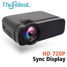 ThundeaL TD30 Max Projector 1280*720 HD 2400 Lumens Video 3D Proyector Bedrade Sync Display Telefoon Multi Screen Mini LED Projector(China)