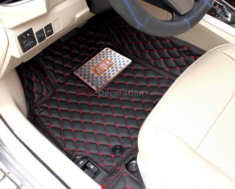 2 rows For Toyota Sienna XL30 2011 - 2016 Inner Car Floor Mats Foot Pad Auto Leather Carpet New<br><br>Aliexpress