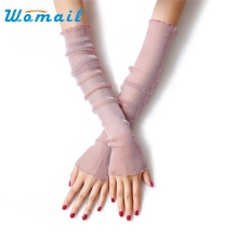 Womail 52cm Fashion Clothing accessories fingerless Long sunscreen UV thin lace Arm Warmers summer for women Drop #20 Gift