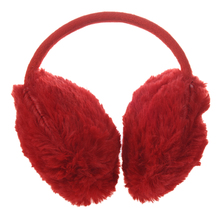 Sale Plastic Headwear Red Fluffy Plush Ear Covers Winter Earmuffs for Women(China)