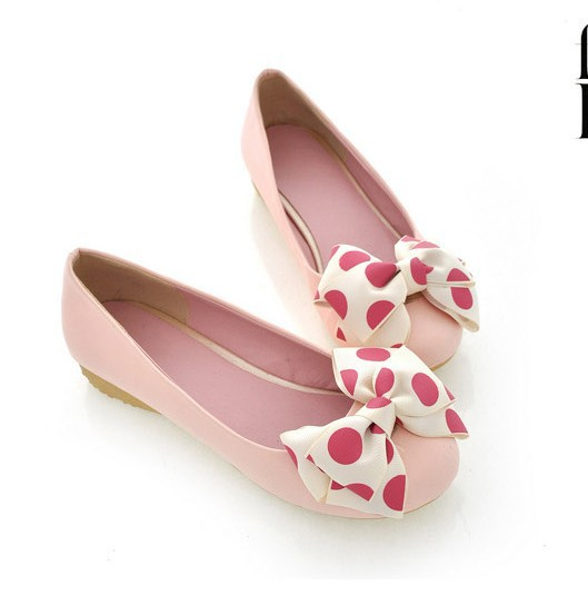 The spring and autumn period and the sweet bowknot shu 2016 womens shoes Flowers round head low and flat shoes<br><br>Aliexpress