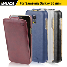 for samsung galaxy s5 mini case flip leather cover for samsung s5 mini g800 mobile phone accessories(China)