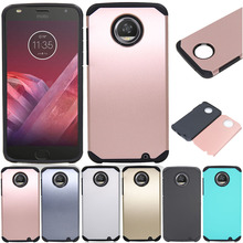 Hybrid Armor Case With Screen Protector Shockproof Slim Hard Silicone TPU+PC Phone Case Cover For Motorola Moto Z2 Play DROID @