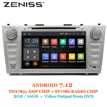 ZENISS 8inch 2GB RAM DDR3 Android7.12 Car DVD Player for Toyota Camry v40 2007-2011 support TPMS Alarm DAB OBD DVR(China)