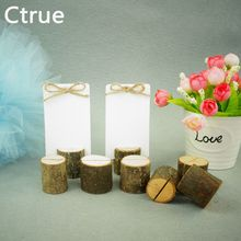 Buy 20 PCS Archaize Branch Wedding Wooden Place Card Holder Table Number Stands rustic wedding decoration centerpieces for $15.95 in AliExpress store