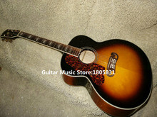 Left Handed Guitars Honey Burst 200 Electric Acoustic Guitar withEQ High Quality Free Shipping