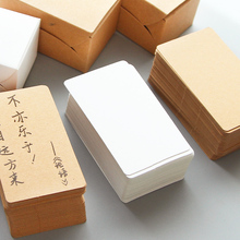 100 pcs/Lot Kraft memo paper White and Brown mini note Message card Guest book Stationery Office school supplies 6908