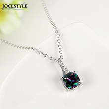 Long Necklace for Women Square Black Zircon Crystal Decor Silver Color kolye Necklace Boho Maxi Statement Necklace Jewelry 2017(China)