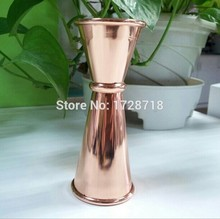 stainless steel copper jigger, wine shaker cup,stainless steel pint cup with copper plating ,Promotional measure jigger