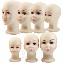 Medium Size 1PC Children Mannequins Manikin Head Wig Hats Mould Show Stand Model Display(China)