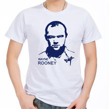 Men's Short sleeve t-shirt Wayne Rooney Manchester The Red Devils Old Trafford England Premier League 100% cotton tshirt jersey(China)