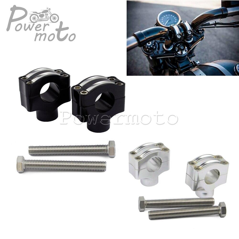 5 Chrome 1 25mm Handlebar Pullback Riser for Harley Springer Bobber Chopper FL Honda Suzuki Yamaha Kawasaki BIG DOG