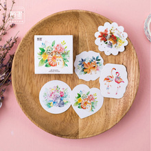 45 pcs/lot Flowers and small animals paper mini sticker decoration DIY ablum diary scrapbooking label sticker kawaii stationery