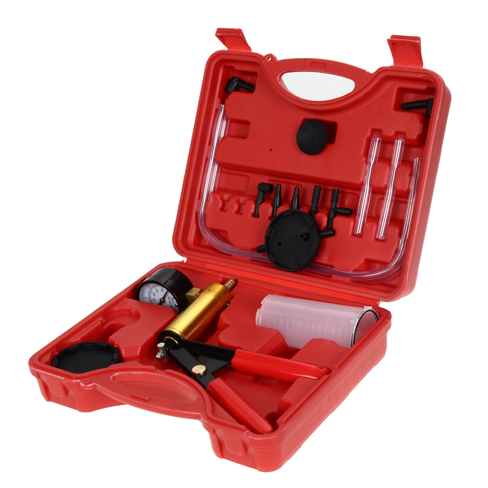 Hand Held Vacuum Tester and Pump Brake Bleeder Kit Cars Motorcycles Sturdy Steel Handle and Brass Cylinder Tool Set<br><br>Aliexpress