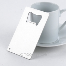 High quality 1 Piece Wallet Size Stainless Steel Credit Card Bottle Opener Business Card Beer Openers(China)