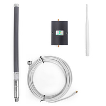 Verizon 700MHz LTE 4G 65dB Mobile Phone Signal Booster Repeater Amplifier with Whip Antenna and fiberglass antenna