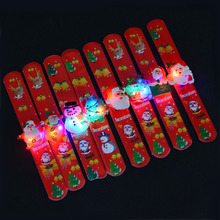 Christmas Santa Claus Decor Xmas Gifts Children Luminous Little Bracelet Toy Christmas Ornaments Gifts Craft Party Supplies(China)