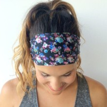 Fashion Women Lady Wide Bohemia Headband Bandanas Print Floral Flower Hairband Head Wraps Hair Band Accessories Summer Style