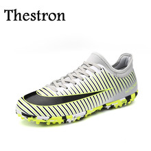 Thestron Mens Shoes Training Red/Gray Sport Shoes Men Football Anti-Slip Original Soccer Shoes Good Quality Soccer Boots For Men