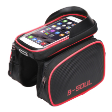 Cycling Bike Front Frame Bag Tube Pannier Double Pouch for Cellphone Bicycle Accessories Riding Bag