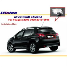 Reverse Camera For Peugeot 2008 3008 2013~2016 License Plate Light OEM / Car Rear View Camera / HD CCD Night Vision