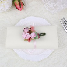 "Wedding Table Napkin Home Table Decoration Accessories 12"" Square Solid Cotton Kitchen Dining Napkin Handkerchief 9Colors 1Pcs"