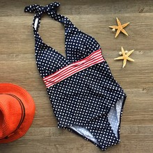 2016 Retail New arrival girls One Piece Dot swimwear For 8-12Years kids swimwear kids students teenagers girls bathing suits(China)