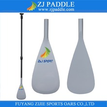 3-Piece Adjustable Lightweight White Gelcoat Fiberglass Stand Up Boards Paddle With Carbon Round Shaft