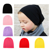 2017 Lovely Kids Baby Knitted Hat Cap For Boys Girls Solid Color Soft Hat Free Shipping Thick Baby Cold Cap Super Pocket Hat(China)