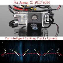 Car Intelligent Parking Tracks Camera FOR Jaguar XJ 2013 2014 / HD Back up Reverse Camera / Rear View Camera(China)