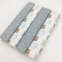 Newborn Baby Bed Sheets 100% Cotton Flannel  Super Soft Crib Sheet Baby Bedding Set Infant Cot Sheets Boys Girls 102 X 76cm