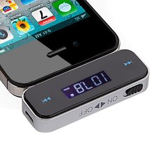 Black Car Kit Mini Wireless FM Transmitter MP3 Audio Transmitter 3.5mm In-car For Phones for iPod / iPhone 3G / 3GS / 4S