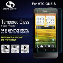 Online-custom 0.3mm Ultra Thin Super Clear Premium Tempered Glass Screen Protector for HTC One S Free Shipping(China)