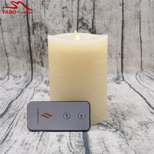 Rustic Flameless Candles with Timer Dancinig Flame Realistic Candle Effect Battery Operated Remote Control for Xmas Decoration