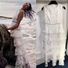 2017 Longt beach dress sexy lace dresses for women elegant skinner white bohemian laces party wedding  vestidos dress vadim