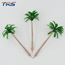 scale 12cm architectural scale model abs plastic palm trees for model train layout