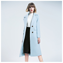 Buy Women's New Fashion Elegant Winter Coat Long Wool Trench Coat Double Breasted Long Sleeve Overcoat Ladies Office Casual Coat for $22.98 in AliExpress store