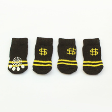 Armi store 6081015 Money Logo Dog Sock Latex Skid-Proof Dogs Socks S, L Size For Dog Clothing Accessories