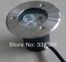 waterproof 4wires external control LED under ground light led underwater light / 3w led pool light(China)