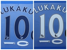 2016 2017 premier league LUKAKU BARKLEY custom football number font print ,stamping Soccer patches badges