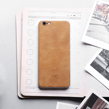 Luxury Back Skin Sticker for apple iPhone 6 case High quality Genuine leather back cover for 6s Plus Decal Durable Protector(China)